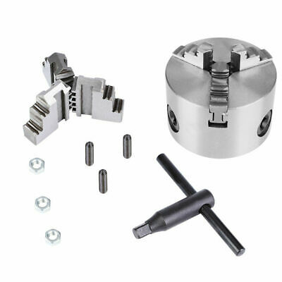 K11-80 Self-Centering 3-Jaw Lathe Chuck With Extra Jaws Machine Accessories New