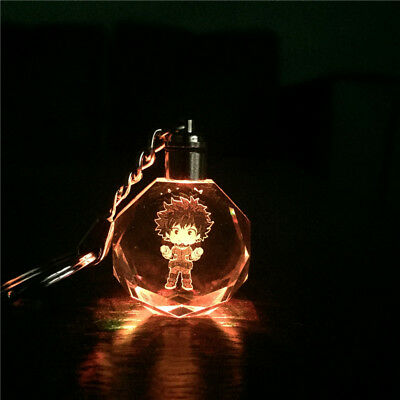 LED Boku No Hero Academia Crystal My Hero Academia Izuku Midoriya Keychain New