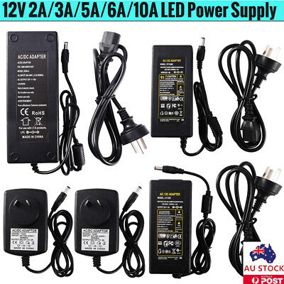 12V 2/3/5/6/10A AC / DC Adapter Power Supply Converter Charger​ For LED Strip AU