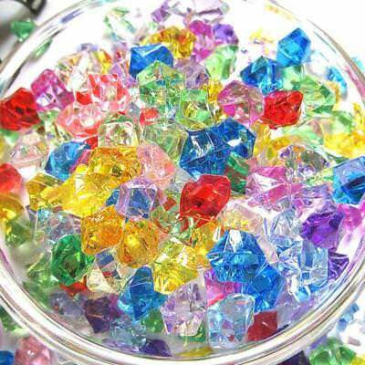 100Pcs Acrylic Crystal Beads Stone Nugget For Fish Tank Aquarium Decor SKN