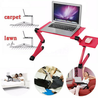 Portable Laptop USB Desk Table Bed Cooling Fans Stand Tray 360° Adjustable  US