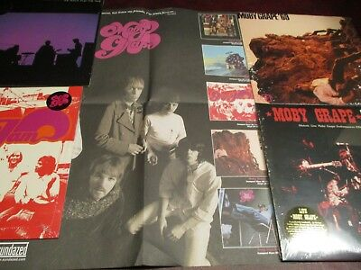 Moby Grape Jam 69 Live 66-69 Great Lost 6Lp Out Of Print Rare Set + Rare Poster
