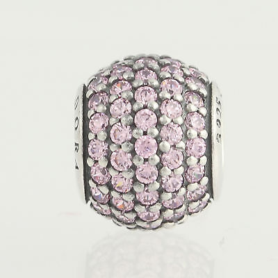 58c571418804 New Pandora Bead Charm - Sterling Silver 791051PCZ Pave Lights Pink CZ ALE  925