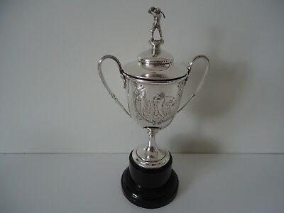 Superb & Rare! Antique Silver Golf Trophy With Lid. 1910. Must See!