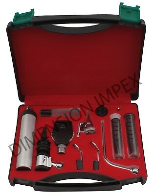 New ENT Diagnostic SET Ophthalmoscope & Otoscope In Carrying Case