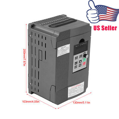 2.2KW 220V Variable Frequency Drive VFD closed loop Speed Controller for 3-phase