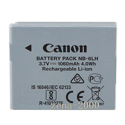 Genuine Canon NB-6LH NB-6L Li-Ion Battery for Canon PowerShot SX510 HS SX170 IS
