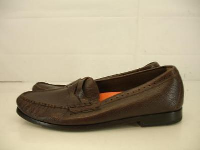 0460b453e30 Mens sz 10 M Cole Haan Pinch Grand OS Penny Loafers Shoes Brown Leather  Slip-