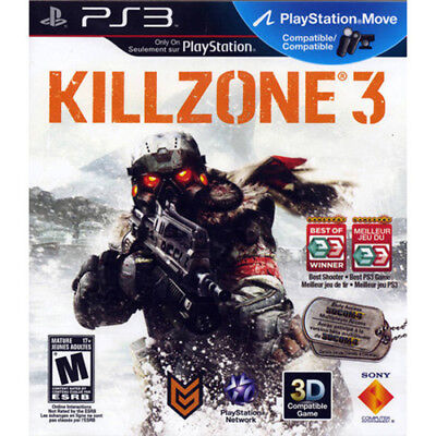 Killzone 3  Sony Playstation 3 PS3 Game  DISC ONLY