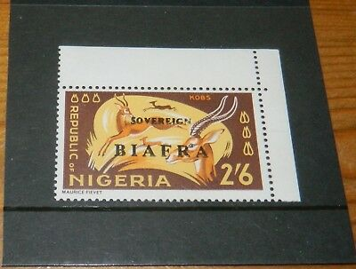 NIGERIA (BIAFRA) ERROR 1968 2/6 DEFIN. MISSING RED OVERPRINT (SG 13a)