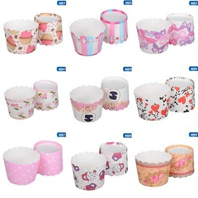 50 x Paper Cupcake Liners Cake Cup Baking Wedding Muffin Cases Cake CA Good