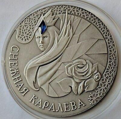 Belarus, 20 Roubles, 2005 Proof Silver Coin, Snow Queen, Snow White COA