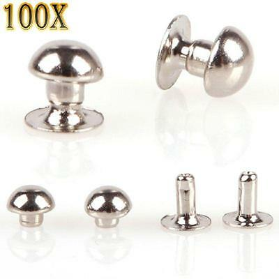 100/200Pcs 5mm Mushroom Round Spike Rivet Studs Punk Bracelet Bag Craft HF