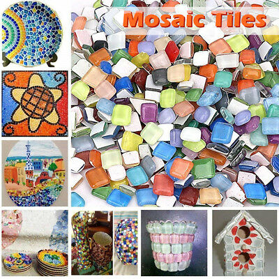 1000Pcs Mixed Crystal Glass Mosaic Tiles Kitchen Bathroom Art&Craft Supplies LOT