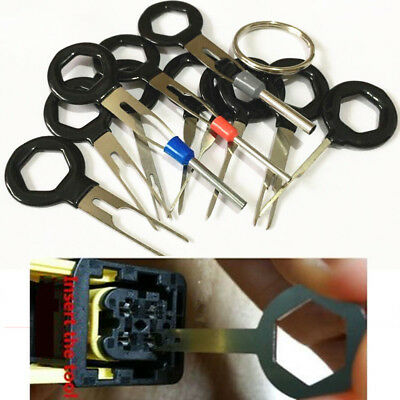 11pcs Car Terminal Removal Tool Wiring Connector Extractor Puller Release Pin