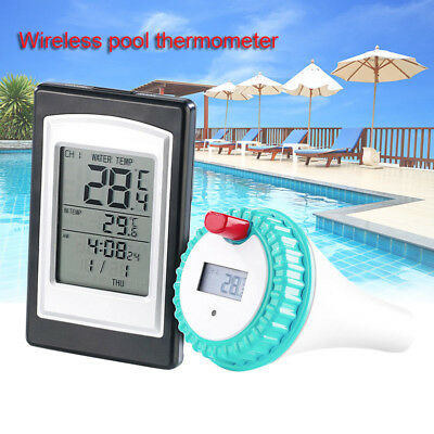 Wireless Thermometer Swimming Pool Spa Hot Tub Waterproof with Large LCD Display