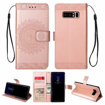 Flip Magnetic Wallet Leather Case Flower Cover For Samsung Galaxy S8 S9 Note 9