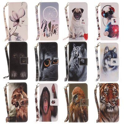 For Samsung A6 A8 S9 Plus PU Leather Wallet Case Flip Card Slot Stand Cover TU
