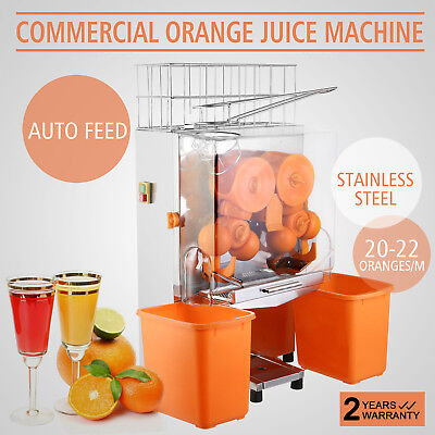 Commercial Electric Orange Squeezer Juicer Stainless Fruit Extractor Auto Feed