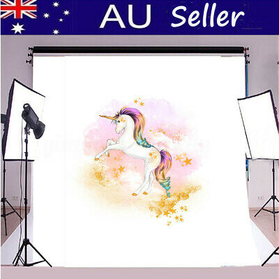 Magical Unicorn Photography Backdrop Birthday Floral Background 5x7FT / 3x5FT AU