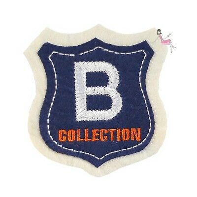 Ecusson brodé B Collection patch thermocollant, 7 cm embroidery patch