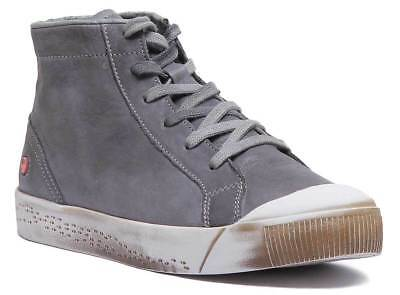 Softinos Isleen Kip 405 Women Soft Leather Ankle boots In Grey Size UK 3 - 8