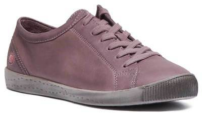 Softinos Isla Women Casual Lace Up Soft Leather Shoe In Dark Brown Size UK 3 - 8