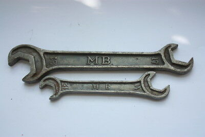 2 Vintage Mercedes Benz Wrench Spanner Rare Veteran Tool Kit Very Early Car
