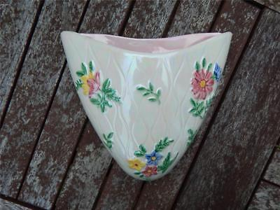 Maling Lustre Ware Wall Pocket.  Made in Toon, England long ago!