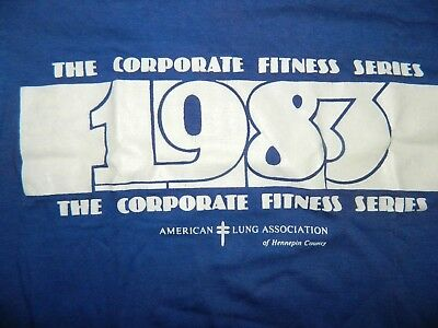 NEW 1983 vtg AMERICAN LUNG MARATHON CORPORATE FITNESS SOFT THIN TSHIRT Med NOS