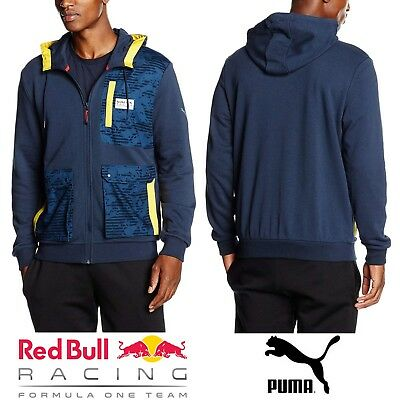 e110307f1df88 762353-01] MENS PUMA Red Bull Racing RBR Team Hooded Sweat Jacket ...