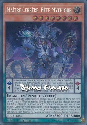 Yu-Gi-Oh ! Maitre Cerbère, Bete Mythique MP18-FR185 (MP18-EN185) VF/SECRET