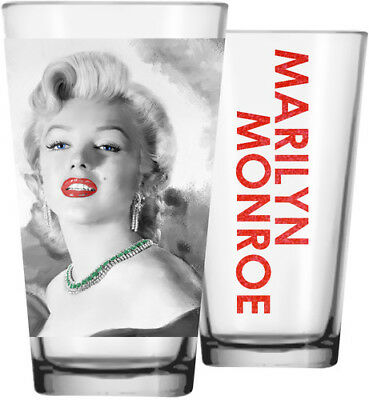 Marilyn Pink Lips / Green Necklace Pint Glass