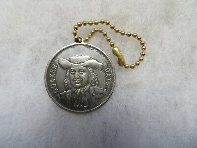Rare Quaker Oats Promotional Order O Smiling Face Keychain Coin Medal Fob Token