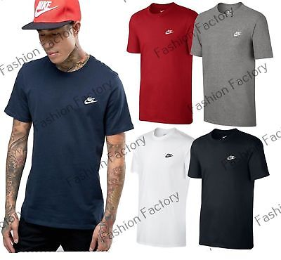 2230a9ea1 Men's Nike Basic Crew Neck Embroidered Swoosh Tee Casual Gym Nike T-Shirts
