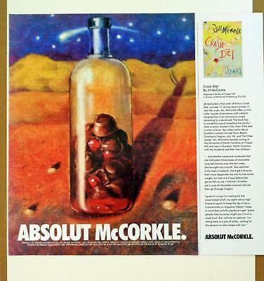 1994 Absolut McCorkle Crash Diet Chocolate Cherries Jill McCorkle Art Print AD