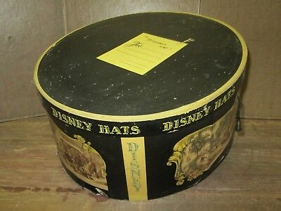 MR DISNEY HAT BOX, Early DISNEY HATS Oval Box with Currier & Ives Images