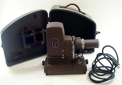 Vintage Bell & Howell Filmo Slide Master Projector 154 Model A Working with Case