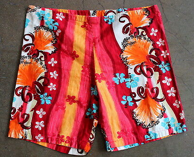 vintage 60s HAWAIIAN colorful BOARD SHORTS trunks SURF surfing