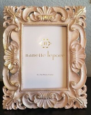 PICTURE FRAME- VINTAGE Antique Style Ornate Bright Gold Linen ...