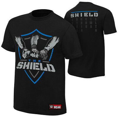 The Shield-United Fists T-SHIRT WWE XS-5XL NEU RAW WWE Wrestling Roman Reigns