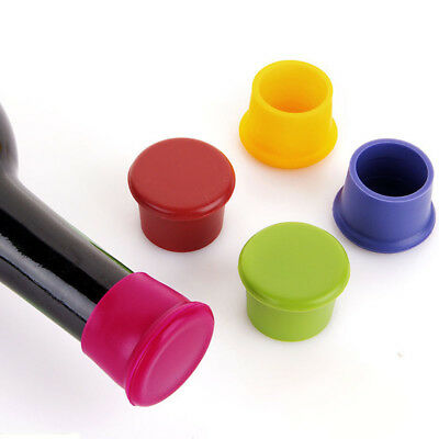 Silicone Bottle Cap Lid Stopper Cover Cork Wine Glass Beer Saver Capsule Fres