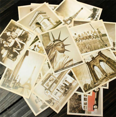 32Pcs Box Set Vintage Landscape Travel Postcard Photo Picture Poster Post Card -