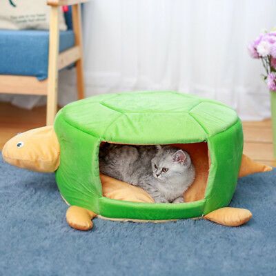 Cute Turtle Shape Pet Dog Puppy Sleeping Bag House Cat Bed Warm Soft Kennel Cave