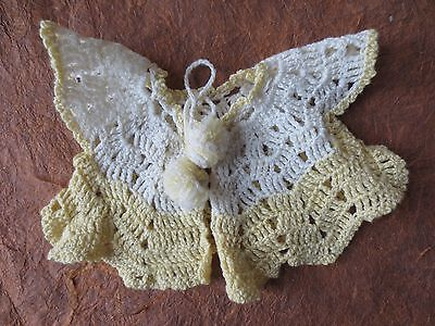 vintage hand crochet baby sweater cardigan