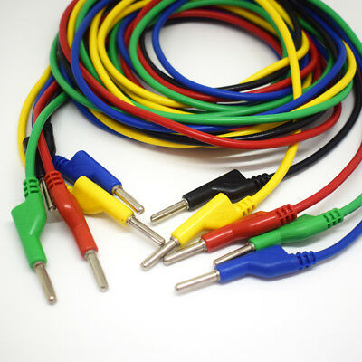 1pc 5 Colors 1.5M Silicone High Voltage Dual 4mm Banana Plug Test Leads Cable