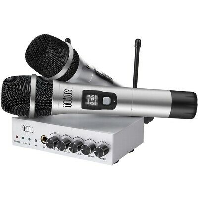 TONOR UHF Wireless Microphone System with Bluetooth Receiver for Karaoke  Church