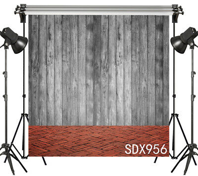 Retro Wood Plank Wall Floor Photography Backdrop Studio Photo Background 10x10FT