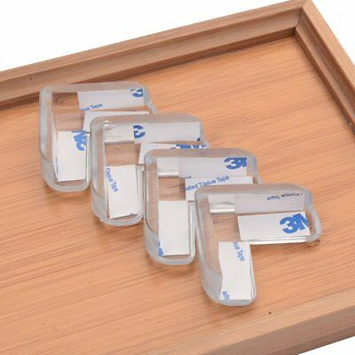 4/8/12Pcs Soft Clear Table Corner Protector Cushion Edge Strip Baby Safety TU