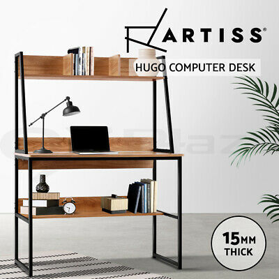 Artiss Computer Desk Metal Study Work Table Student Office Shelf Cabinet Storage